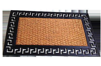 Rubber Coco Matting Mat Iron Effect Mats Coco Fibre Tex